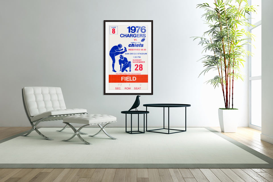1976 San Diego Chargers vs. Kansas City Chiefs in Custom Picture Frame