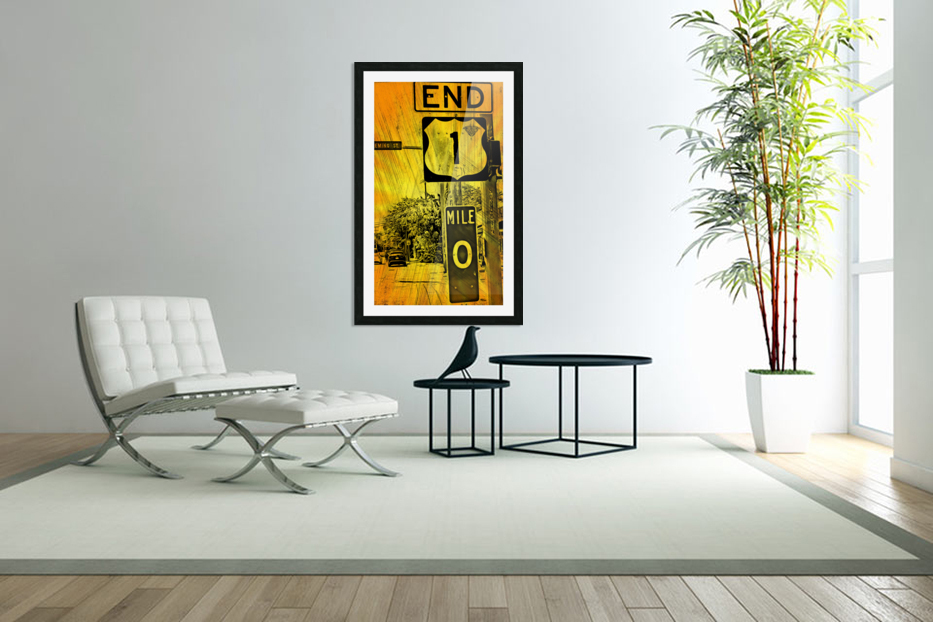 Key West Mile 0 in Custom Picture Frame
