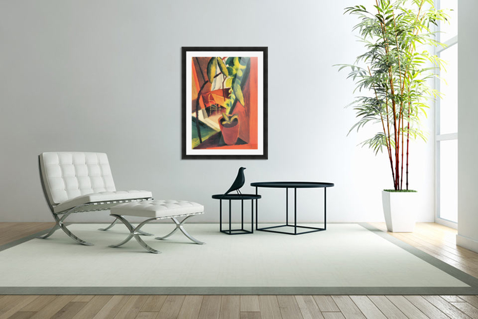 A look into summer-house by August Macke in Custom Picture Frame