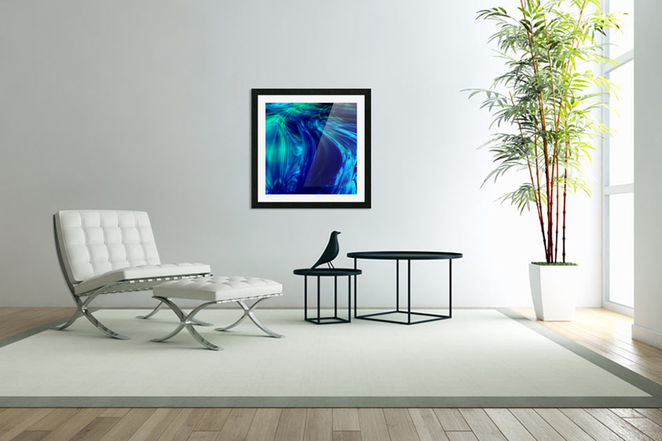 Glasswaves in Custom Picture Frame