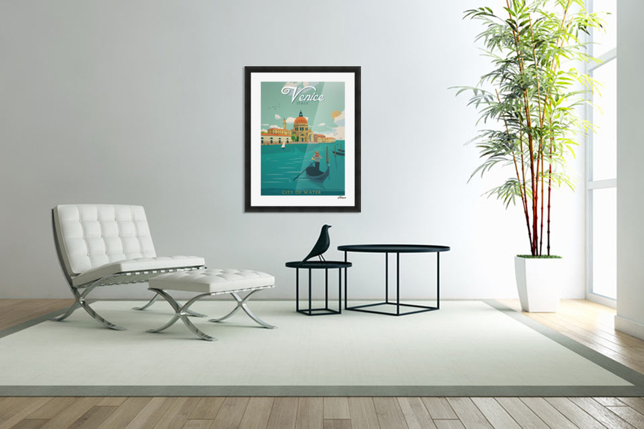 Venice Vintage Travel Poster in Custom Picture Frame