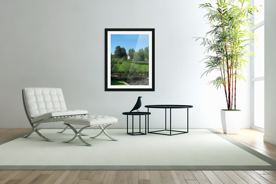 Fields of Green in Custom Picture Frame