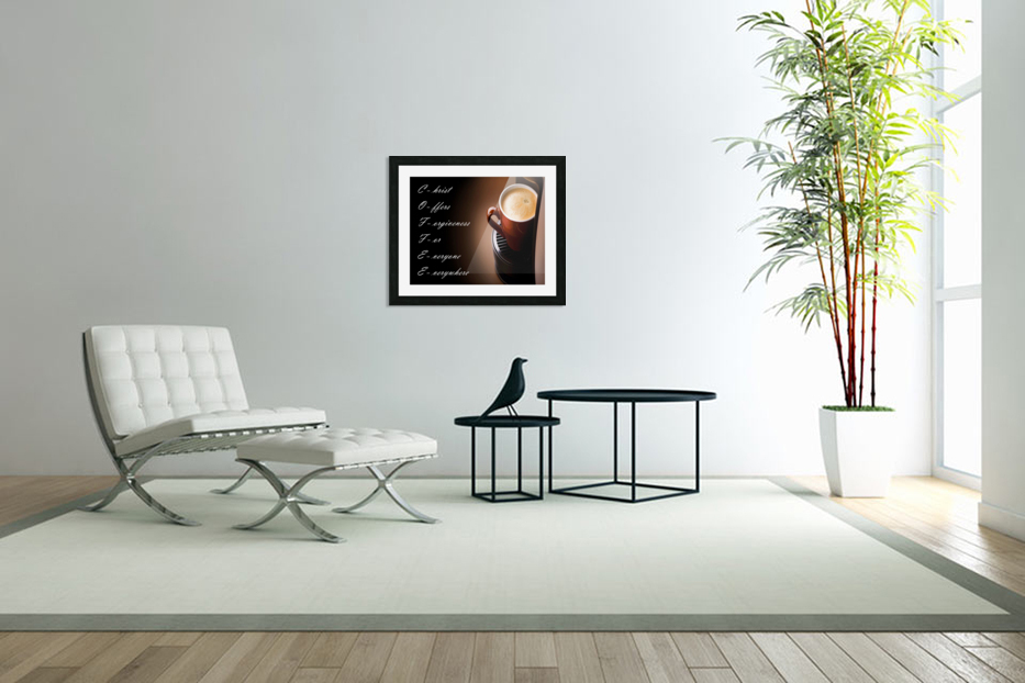coffee in Custom Picture Frame