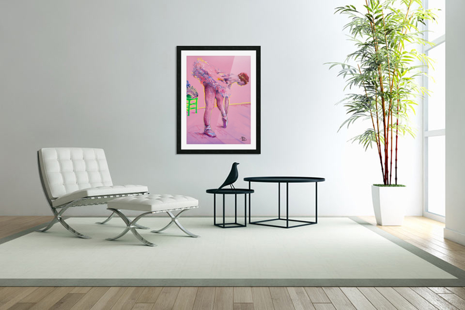 Pink Study East in Custom Picture Frame
