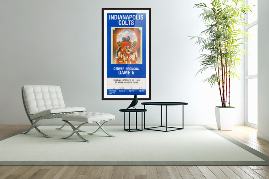 1985 Denver Broncos vs. Indianapolis Colts | Row 1 in Custom Picture Frame
