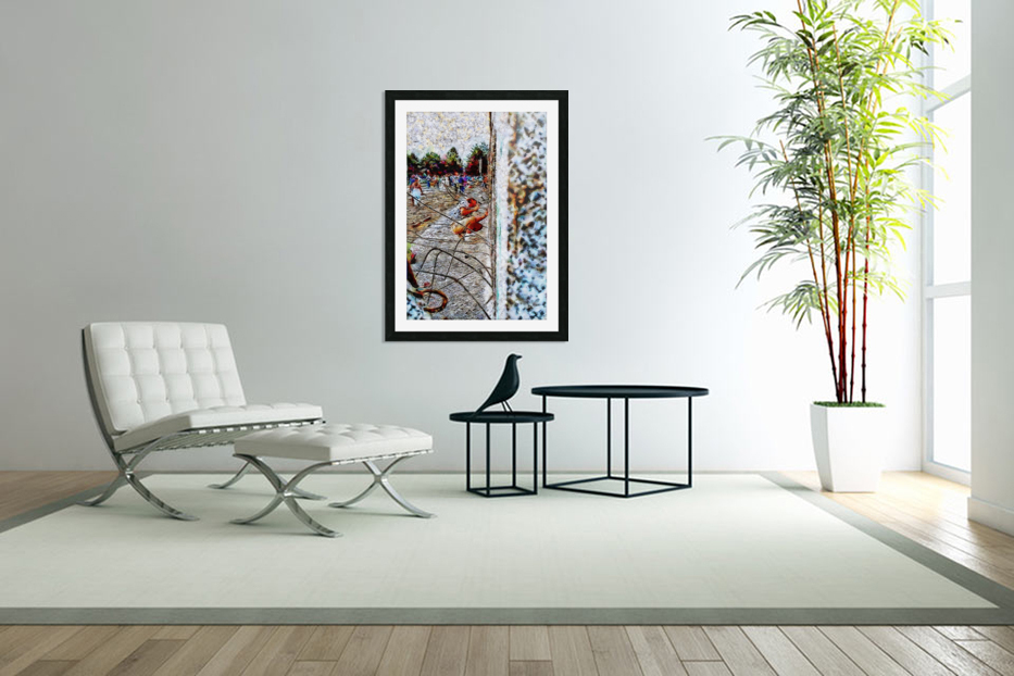 Fall of the Berlin Wall in Custom Picture Frame