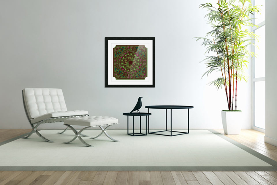 Labyrinth 1802 in Custom Picture Frame