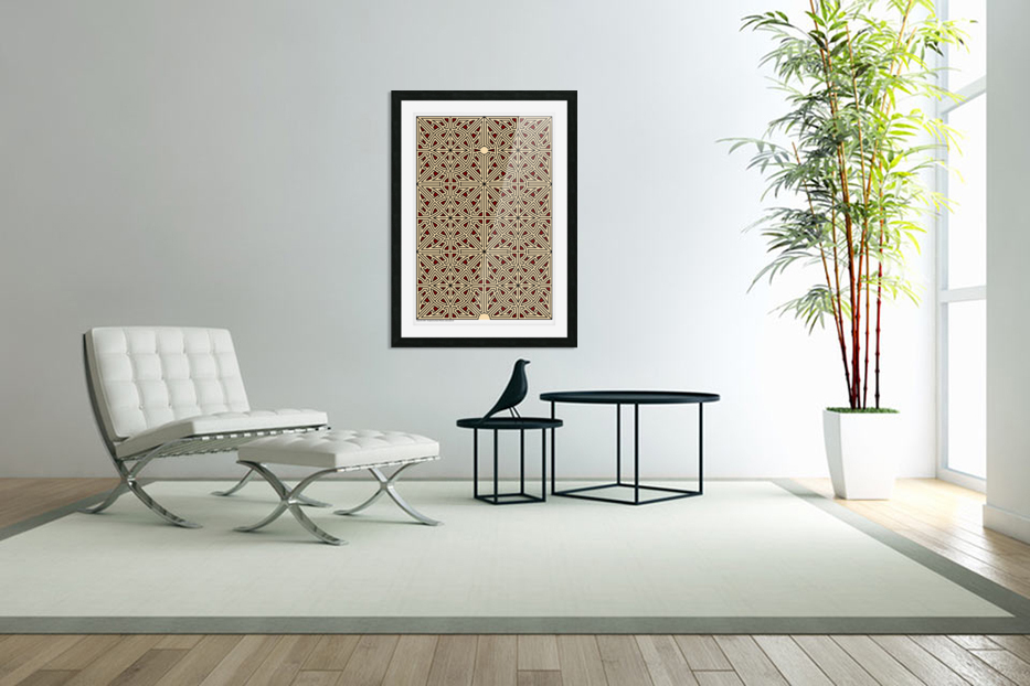 Labyrinth 2604 in Custom Picture Frame