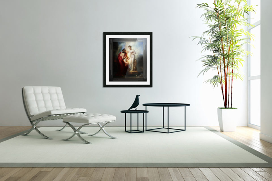 Pygmalion et Galatee byAnne-Louis Girodet-Trioson Classical Fine Art Xzendor7 Old Masters Reproductions in Custom Picture Frame