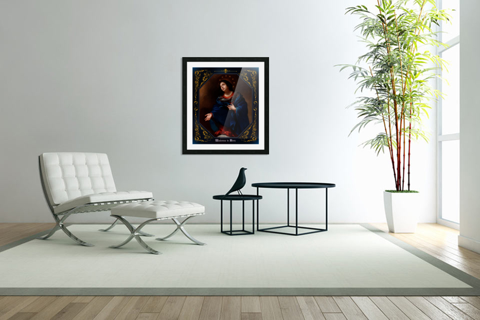Madonna in Glory by Carlo Dolci Blue Gold Border Xzendor7 Old Master Art Reproductions in Custom Picture Frame