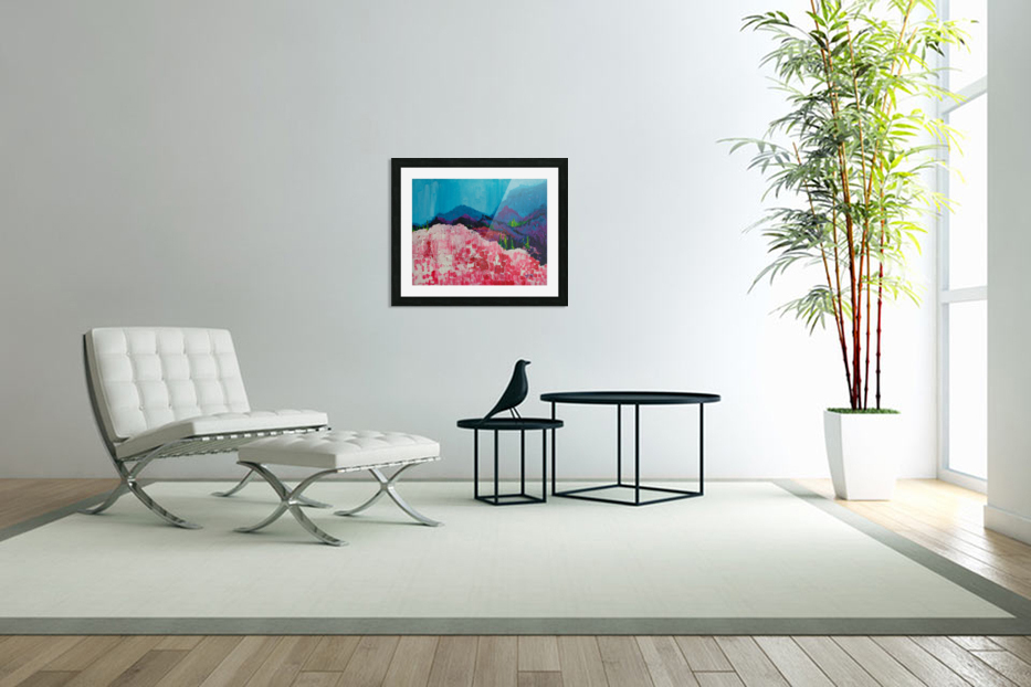 Blue Mountains in Custom Picture Frame