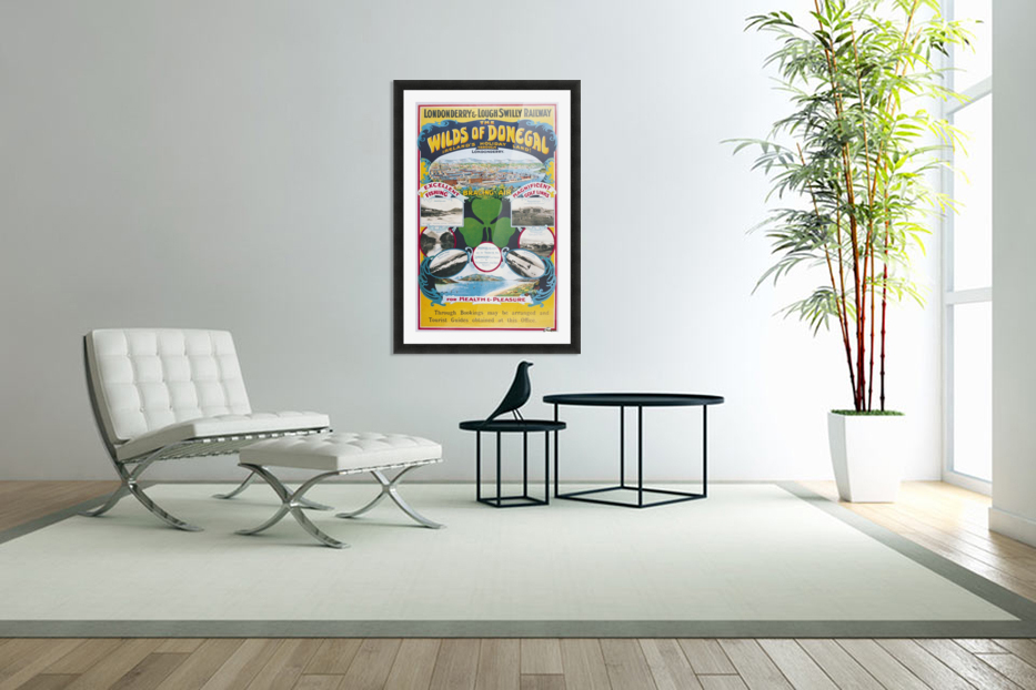 Irish Travel Art Poster, Wilds of Donegal, Ireland in Custom Picture Frame