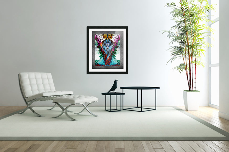 What Dreams Are Made Of GeomatCLR WQ FRAME Fractal Art Cuboid Portrait in Custom Picture Frame
