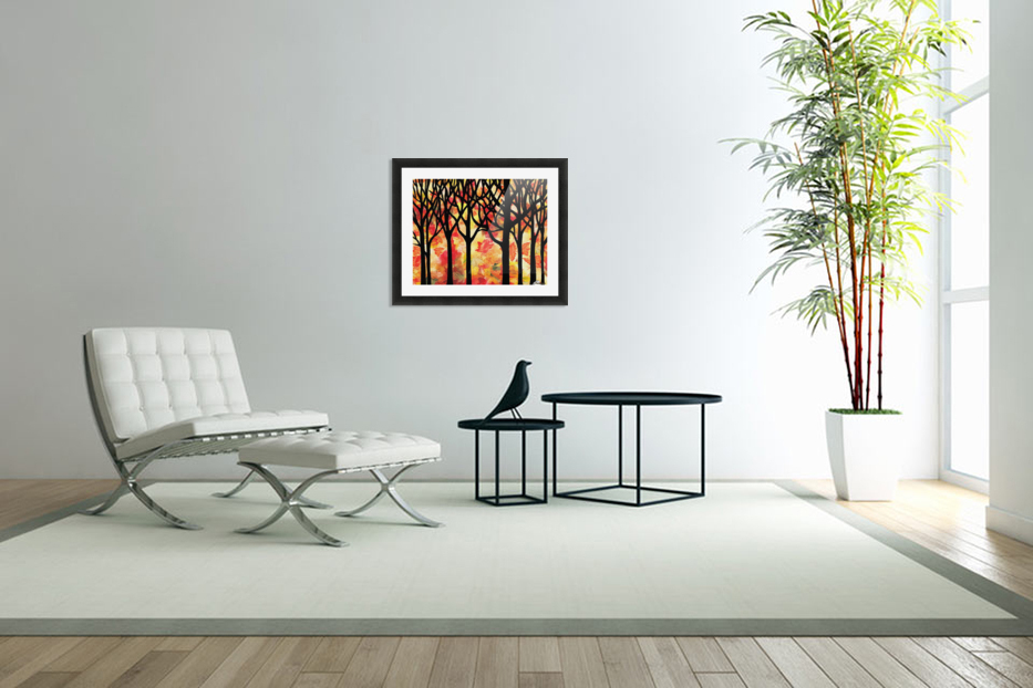 Fall In The Forest in Custom Picture Frame