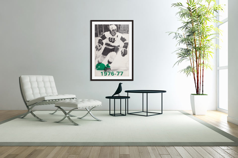 1976 New England Whalers Art in Custom Picture Frame