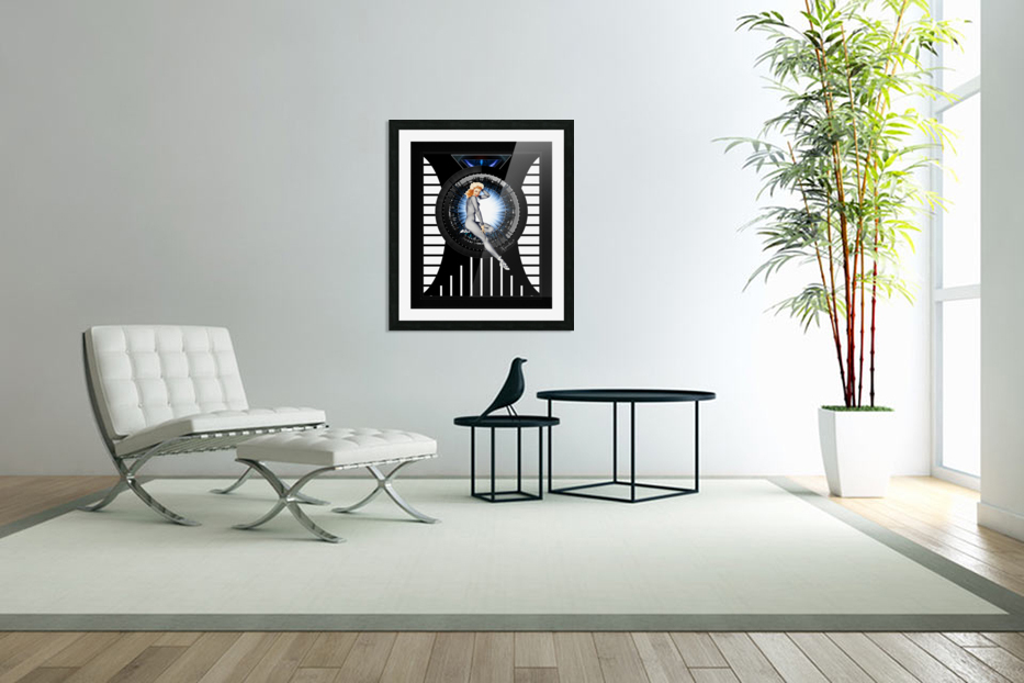 Sitting Pretty With Tech by Xzendor7 Digital Art in Custom Picture Frame