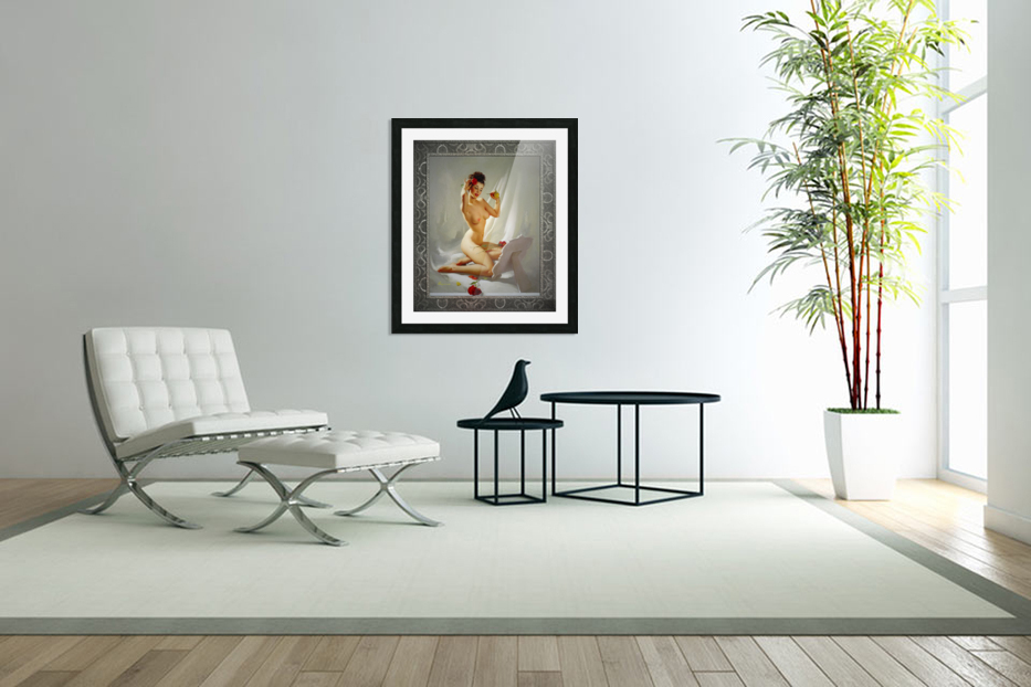 Perfection by Gil Elvgren Vintage Illustrations Xzendor7 Old Masters Reproductions in Custom Picture Frame