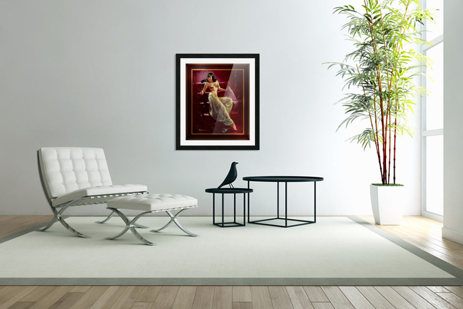 Did You Recognize Me by Gil Elvgren Vintage Pinup Illustration Xzendor7 Old Masters Reproductions in Custom Picture Frame