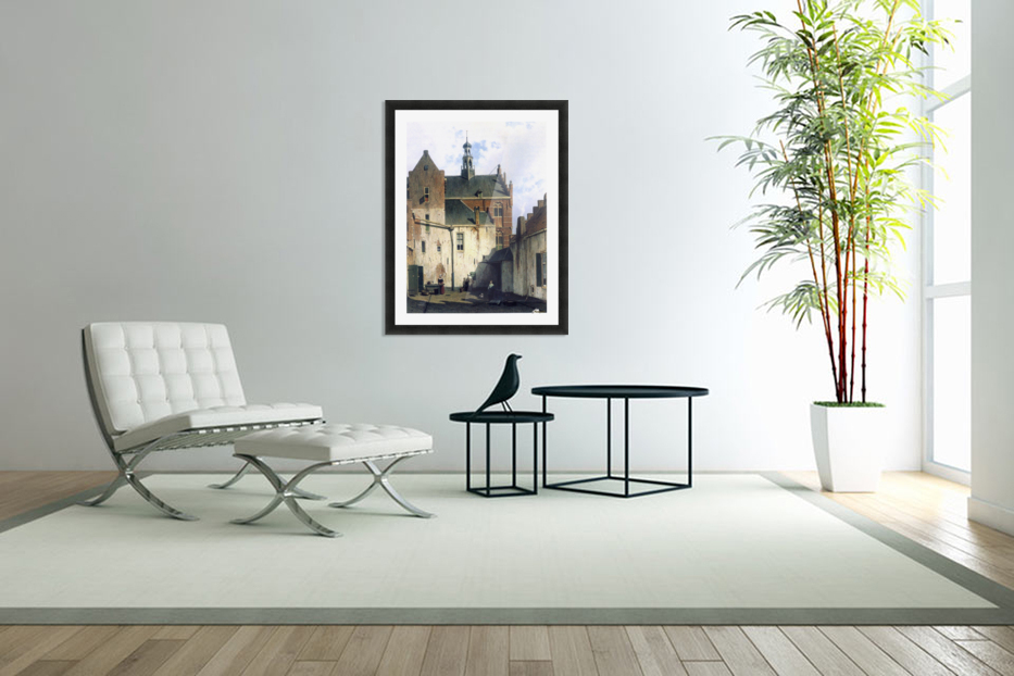 Culemborg, view at the westerly facade of the town hall at Wagenweg in Custom Picture Frame