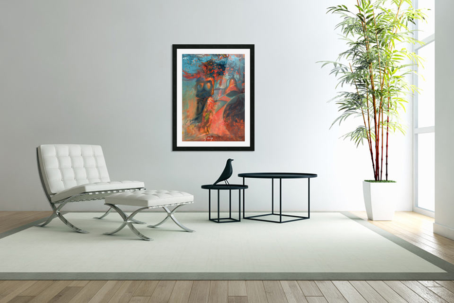 Woman in the blue dress in Custom Picture Frame