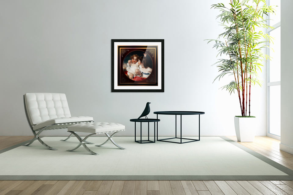 Nature - The Calmady Children by Sir Thomas Lawrence Classical Fine Art Xzendor7 Old Masters Reproductions in Custom Picture Frame