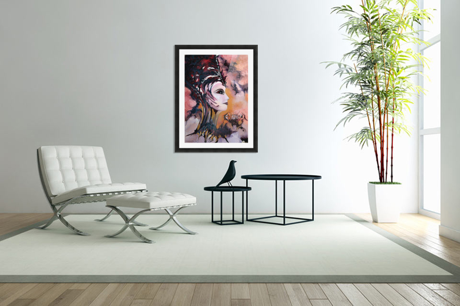 Act with Modern Elegance - Nefertiti in Custom Picture Frame