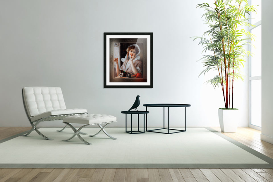 At Play byEmile Vernon Vintage Fine Art Xzendor7 Old Masters Reproductions in Custom Picture Frame
