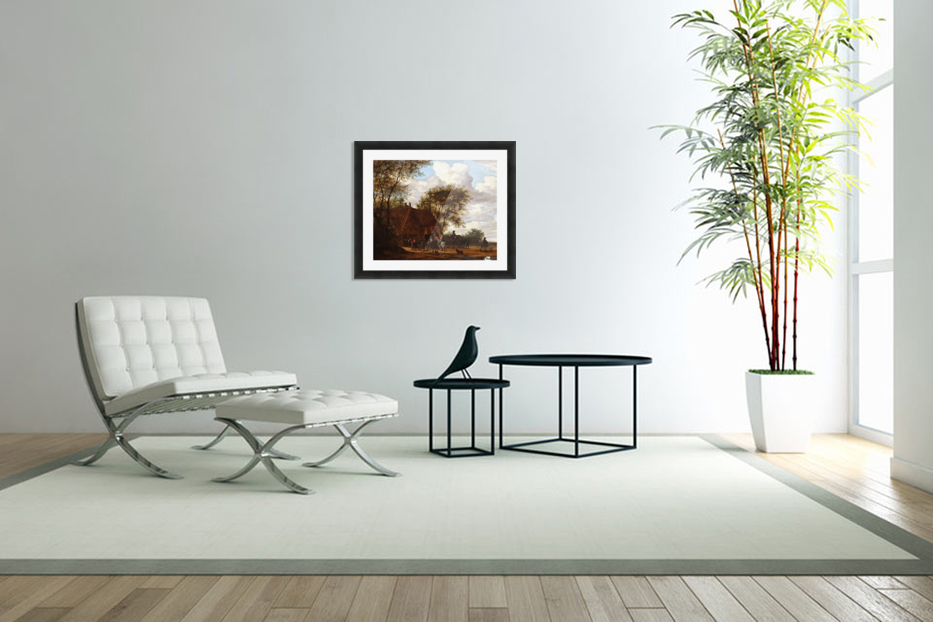 A Wooded Landscape in Custom Picture Frame