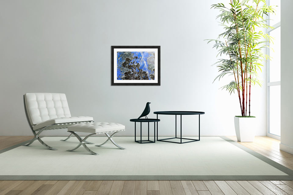 Blue Rock in Custom Picture Frame