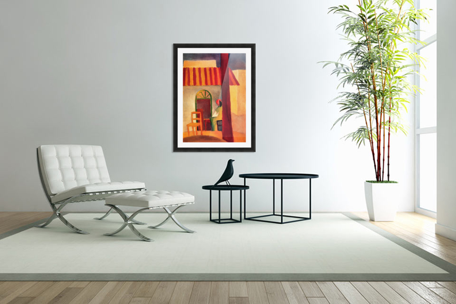Turkish Cafe by August Macke in Custom Picture Frame