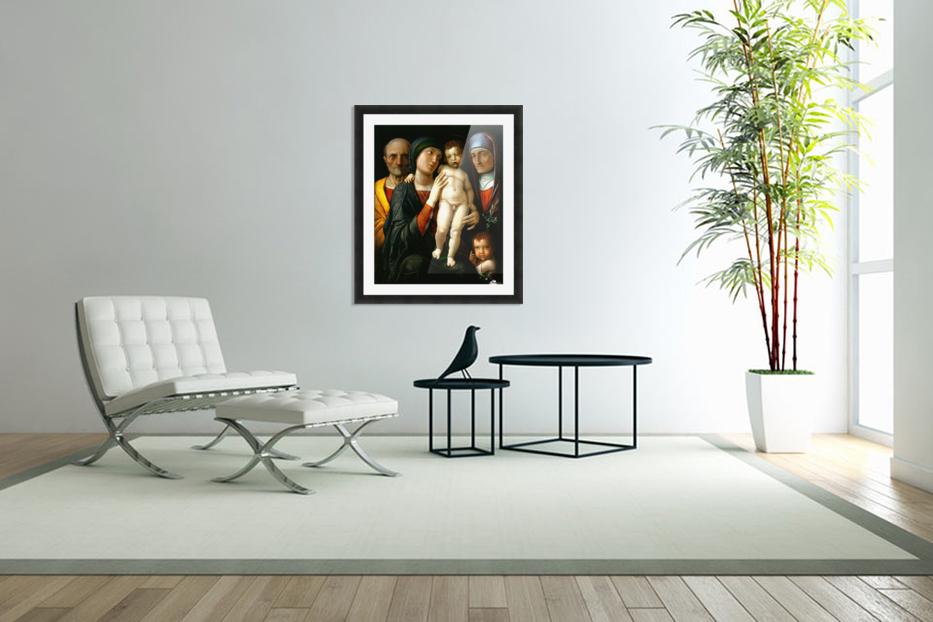 Holy Family with Saints Elizabeth and John the Baptist in Custom Picture Frame