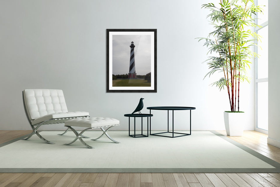 Cape Hatteras Lighthouse in Custom Picture Frame