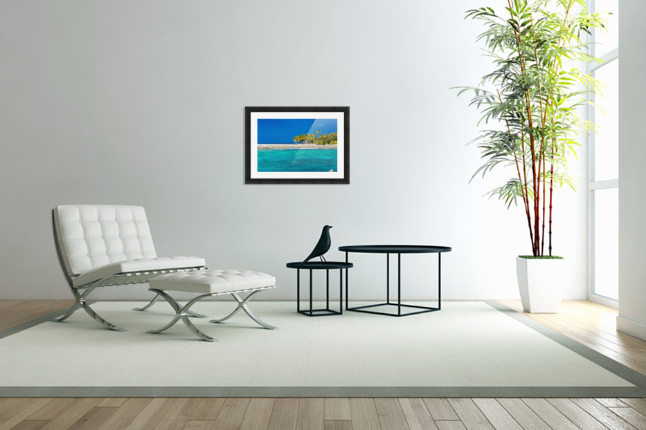 Tropical island background in Custom Picture Frame