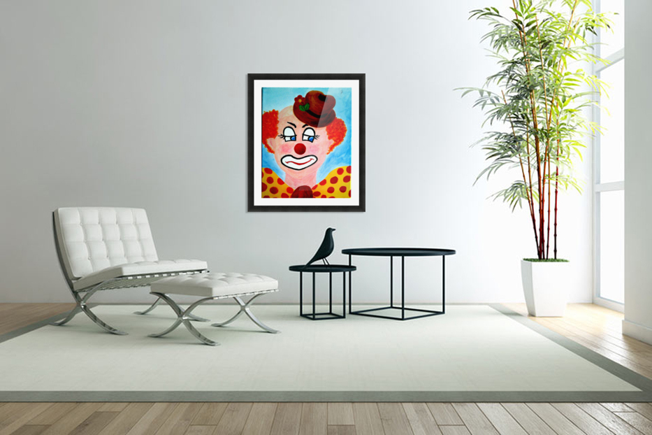 Masker, The sad Clown in Custom Picture Frame