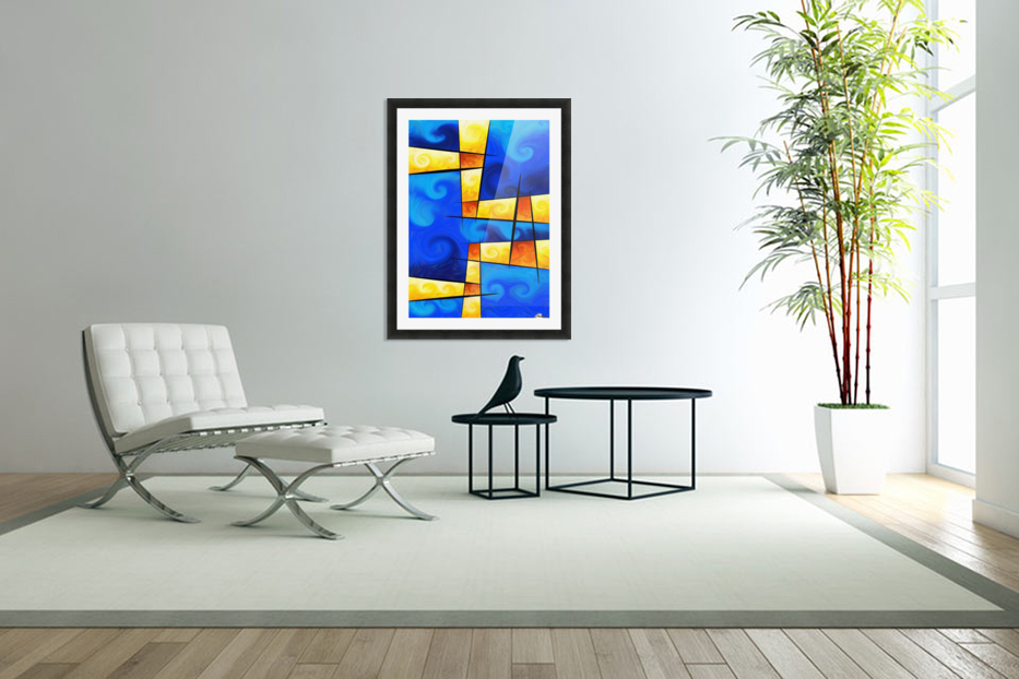 Fergussos V1 - digital abstract in Custom Picture Frame