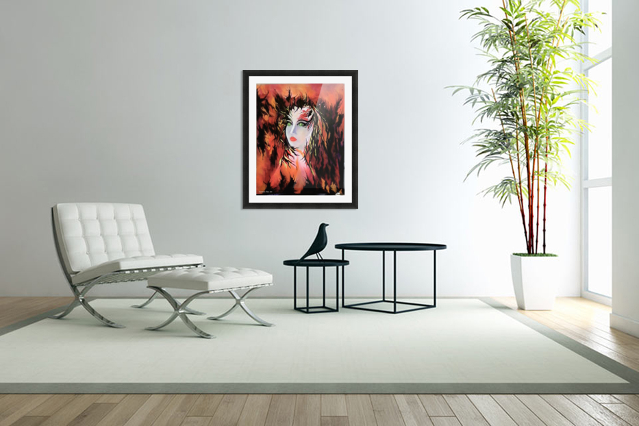 Lonely Angel of God in Custom Picture Frame