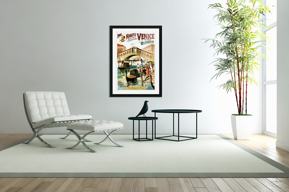 Vintage Travel Poster For Venice Italy Vintage Poster Canvas