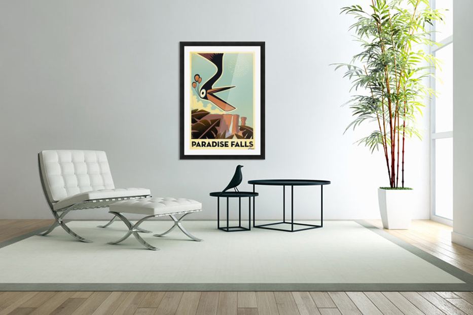 Paradise falls in Custom Picture Frame