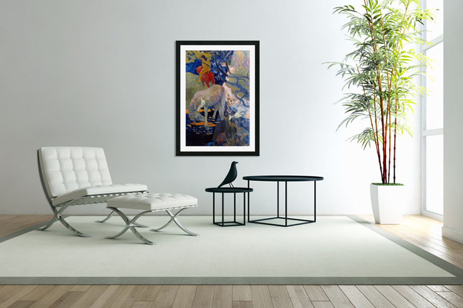 The White Horse by Gauguin in Custom Picture Frame