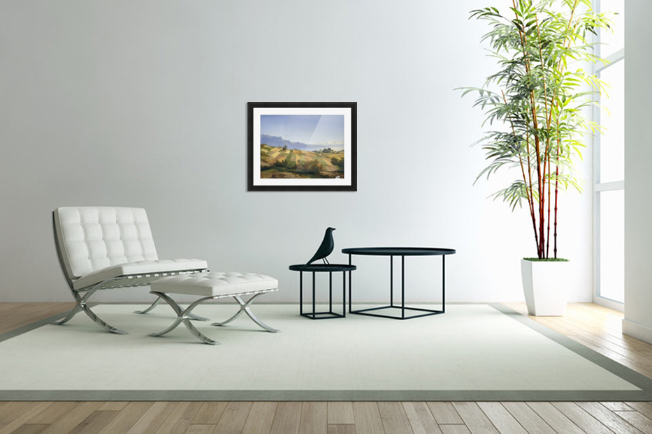 Swiss Landscape 1830 in Custom Picture Frame