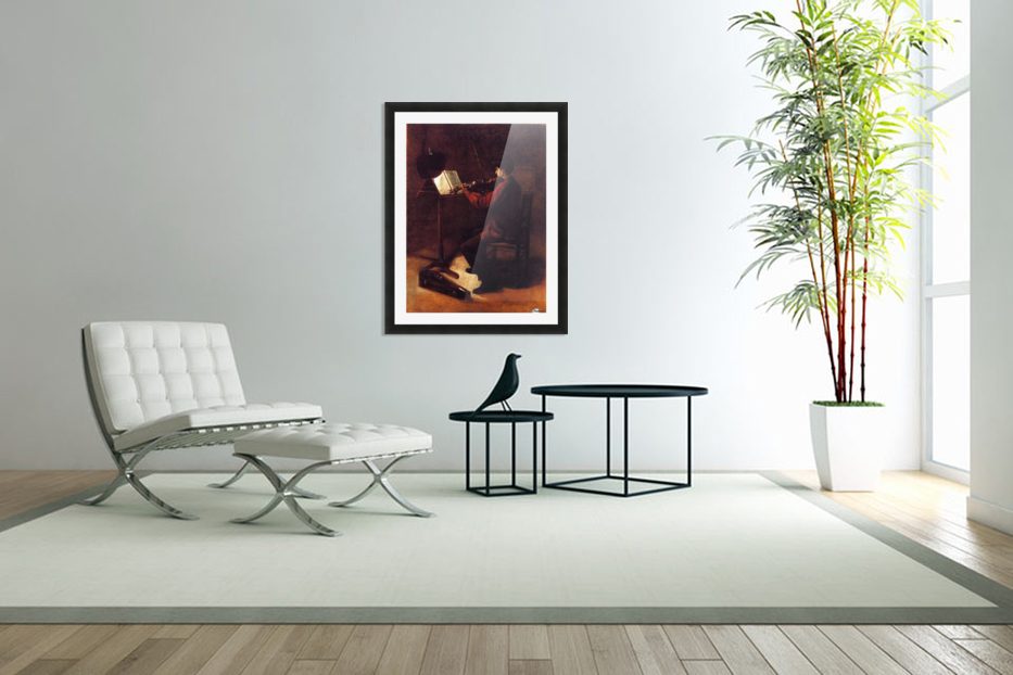Violinist in Custom Picture Frame