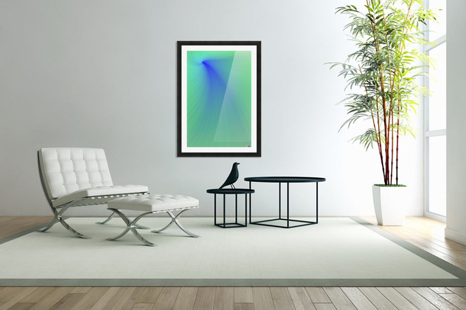 Blue And Green Abstract in Custom Picture Frame