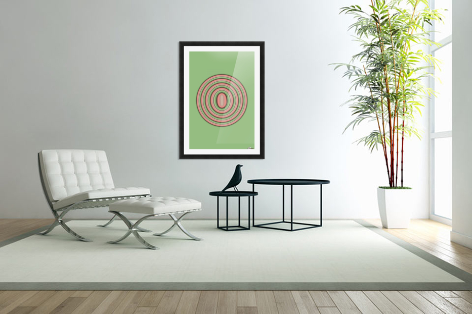Concentric Circles in Custom Picture Frame