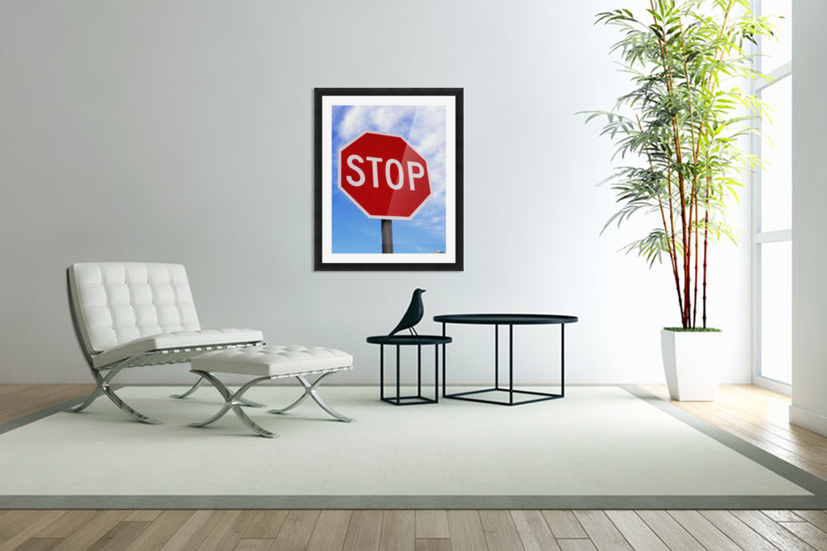 Stop Sign; Ireland in Custom Picture Frame