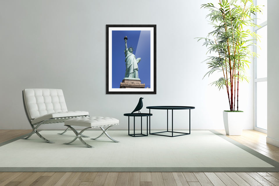 Statue Of Liberty, Lower Manhattan, New York City, New York, Usa in Custom Picture Frame