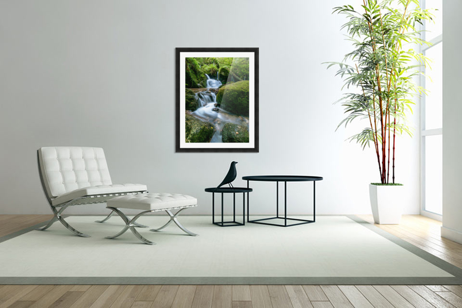 Small Waterfall in the German Black Forest in Custom Picture Frame
