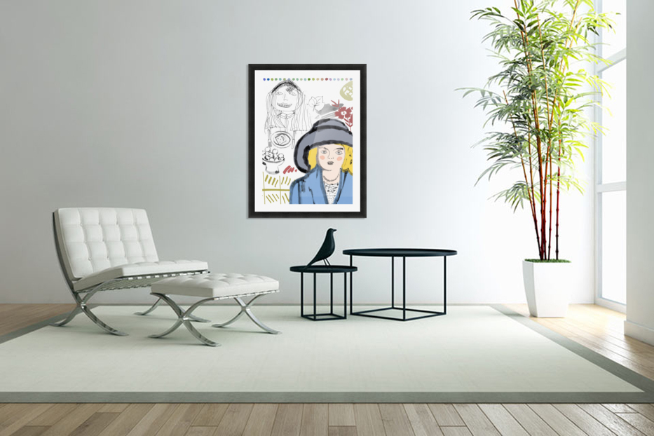 BIG HAT in Custom Picture Frame