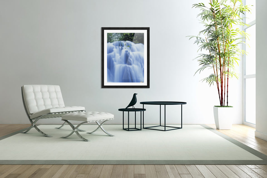 Sweet Creek waterfalls along the hiking trail; Mapleton, Oregon, United States of America in Custom Picture Frame