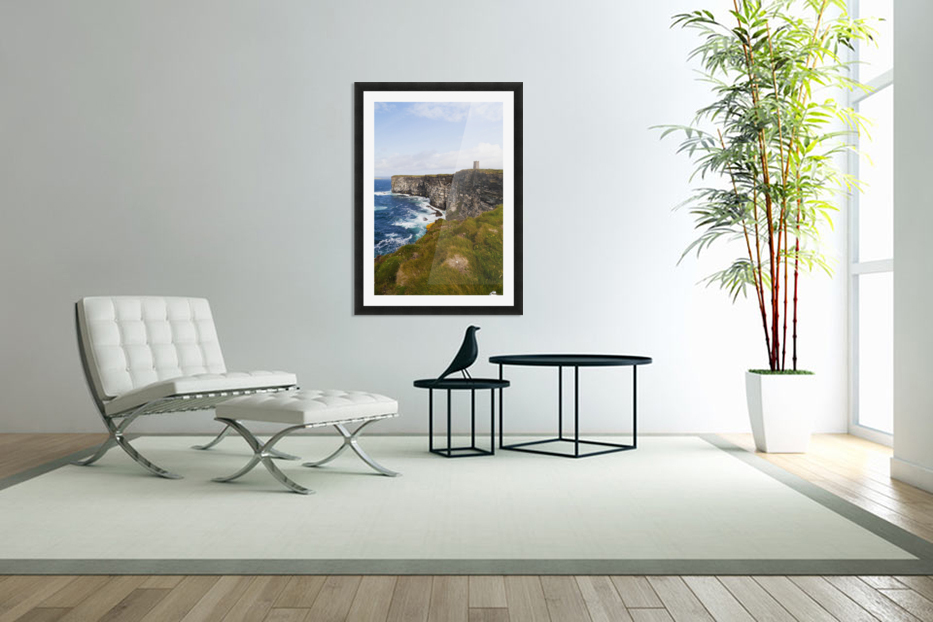 Marwick Head RSPB Nature Reserve, Kitcheners Monument; Orkney, Scotland in Custom Picture Frame