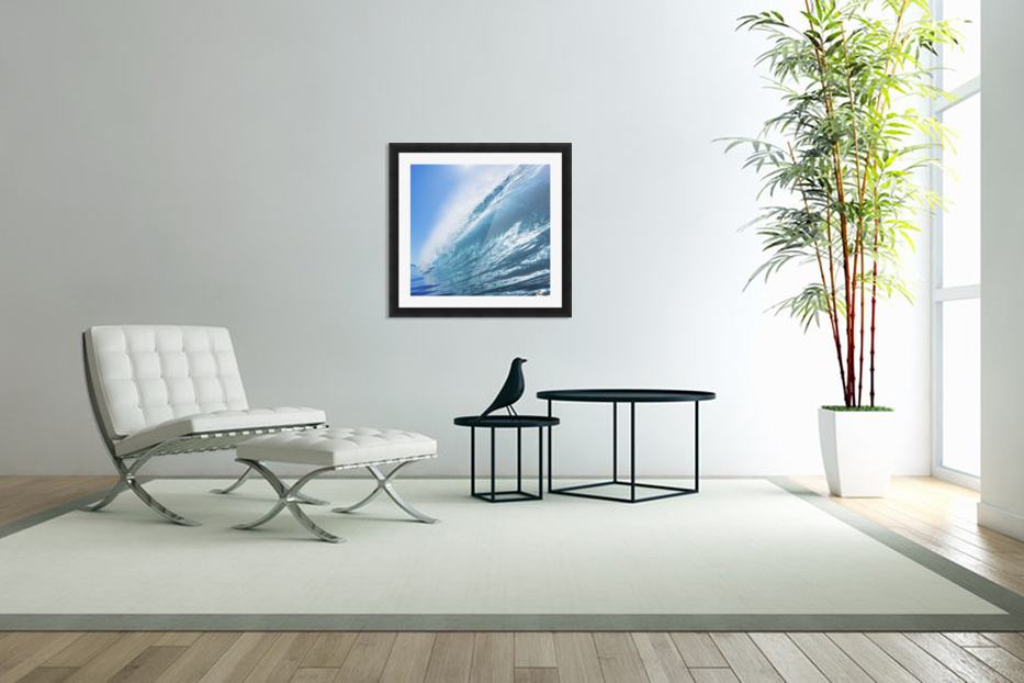 Blue Ocean Wave in Custom Picture Frame